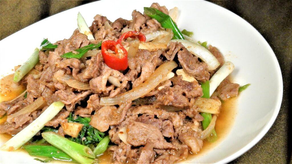 炒羊五花肉(2-3人)
