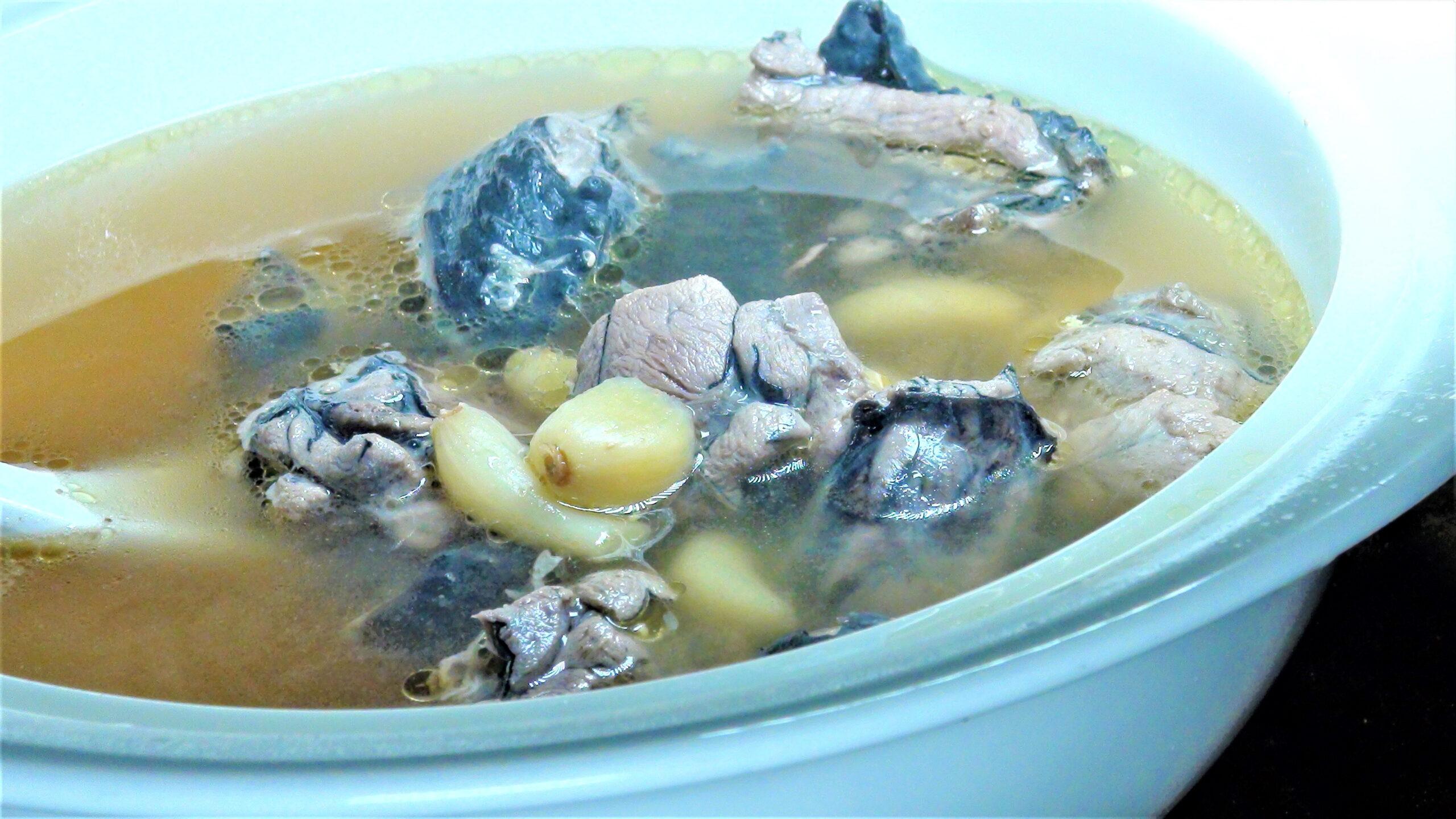 蒜味烏骨雞湯(3-4人)