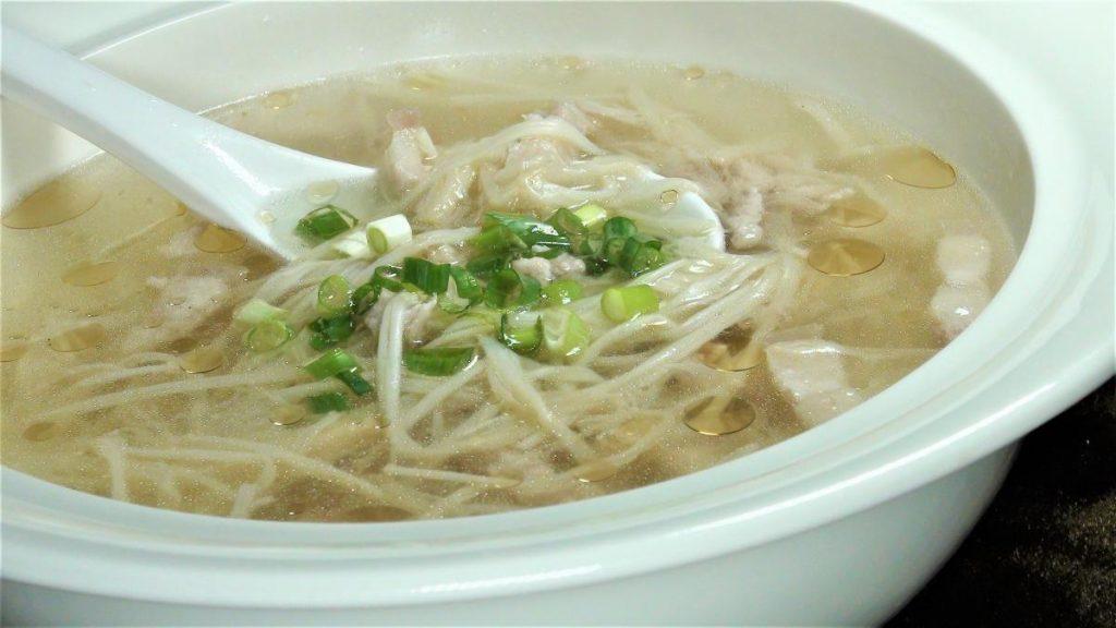 金茸肉絲湯