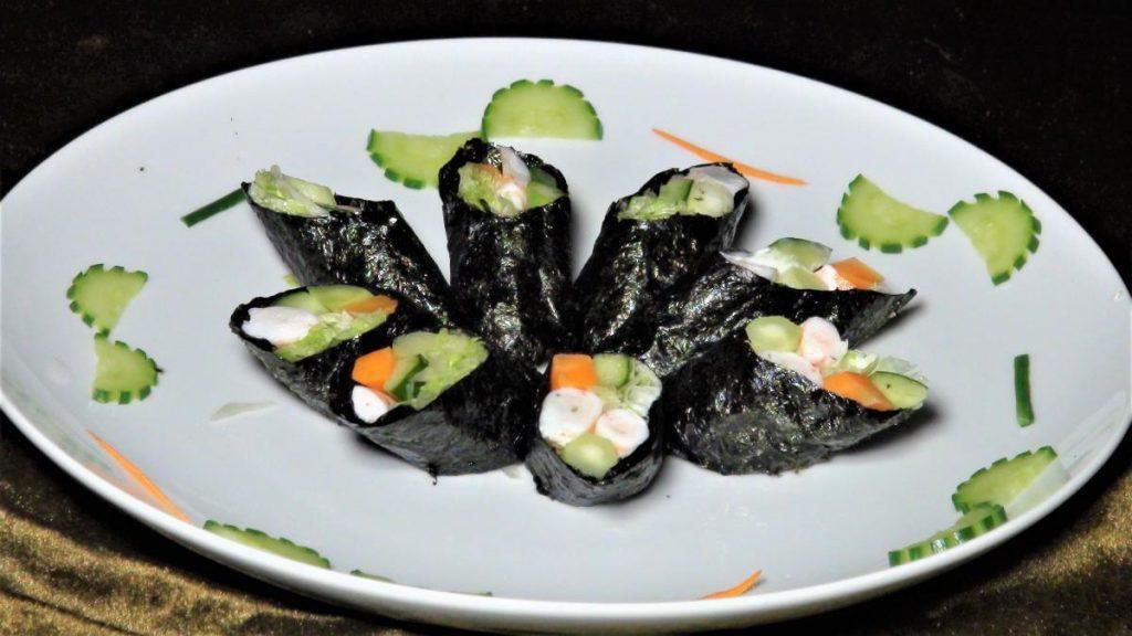 紫菜沙拉蝦捲