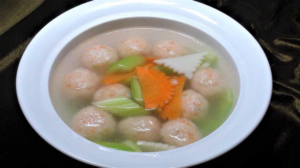 蝦丸蔬片湯