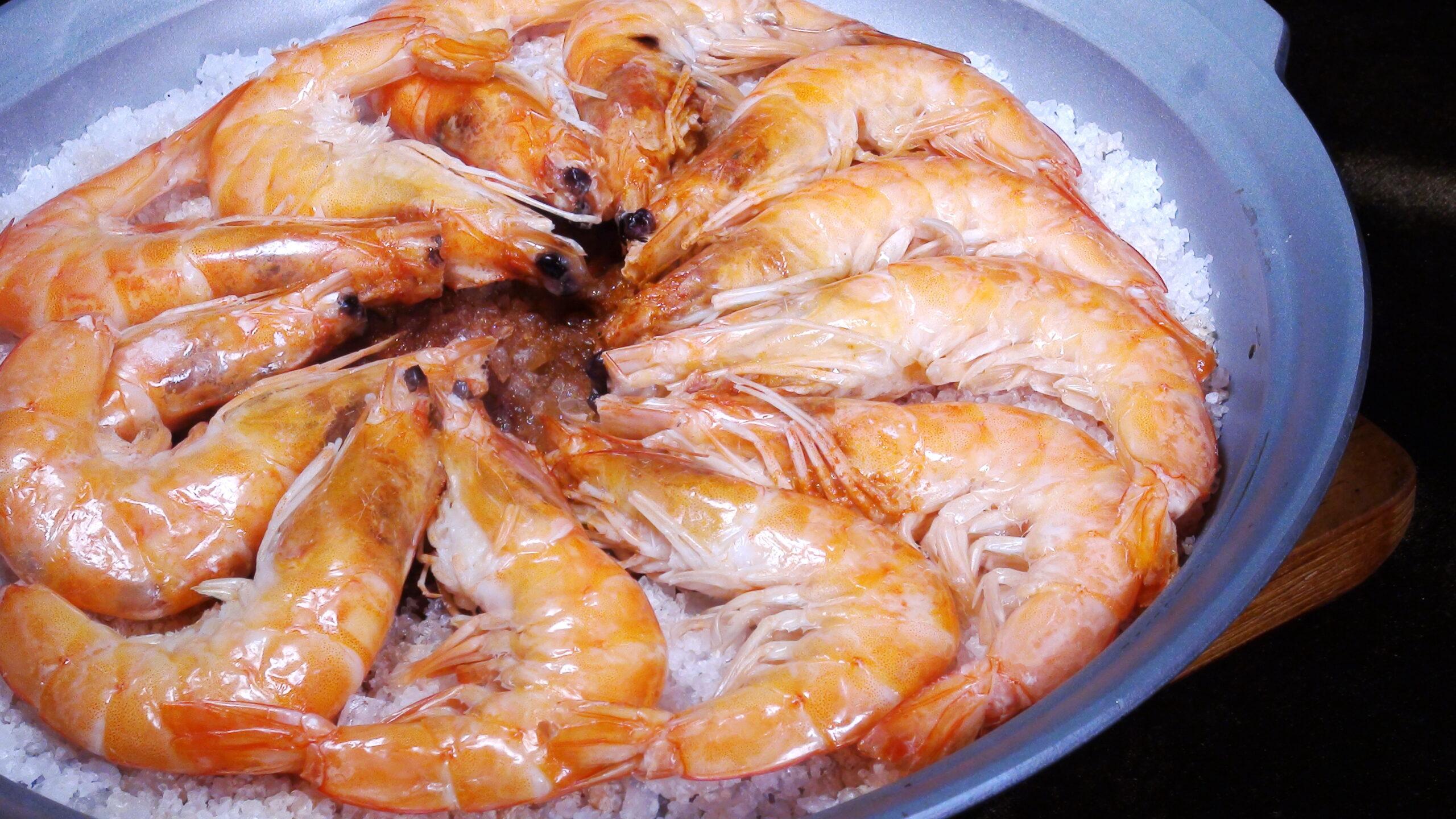 鹽烤白蝦(3-4人)